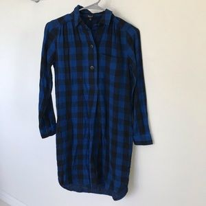 Madewell buffalo check dress